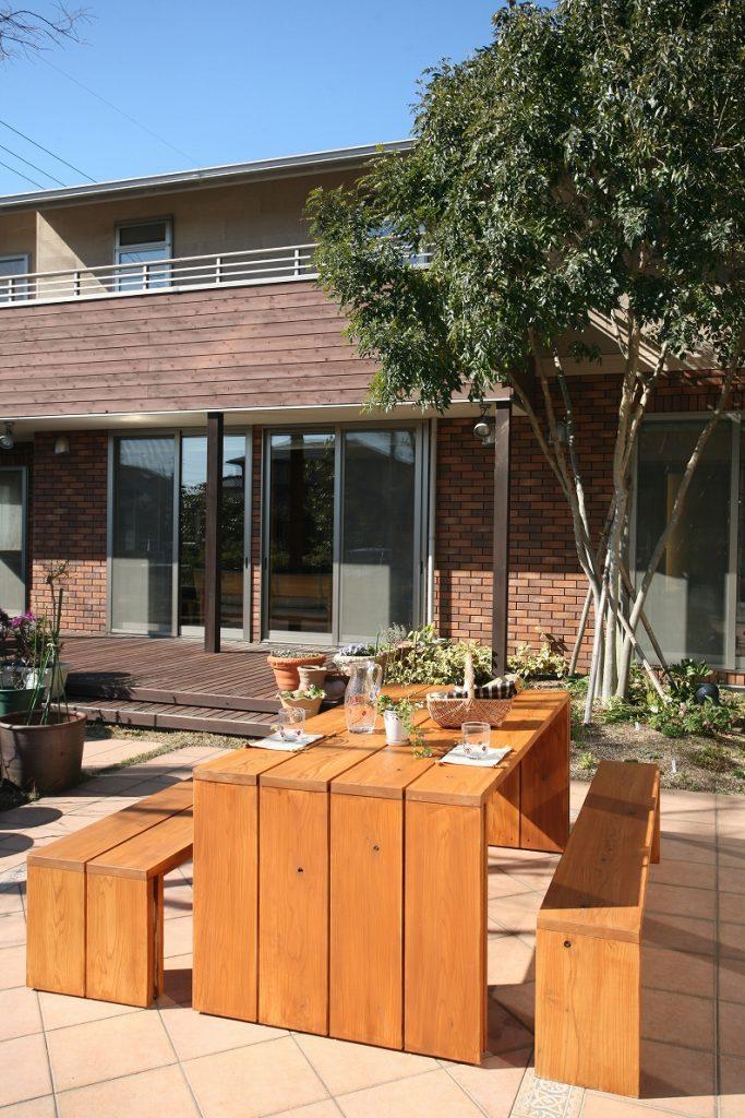 ガーデンテーブル・ベンチ組み立てキッド 企画